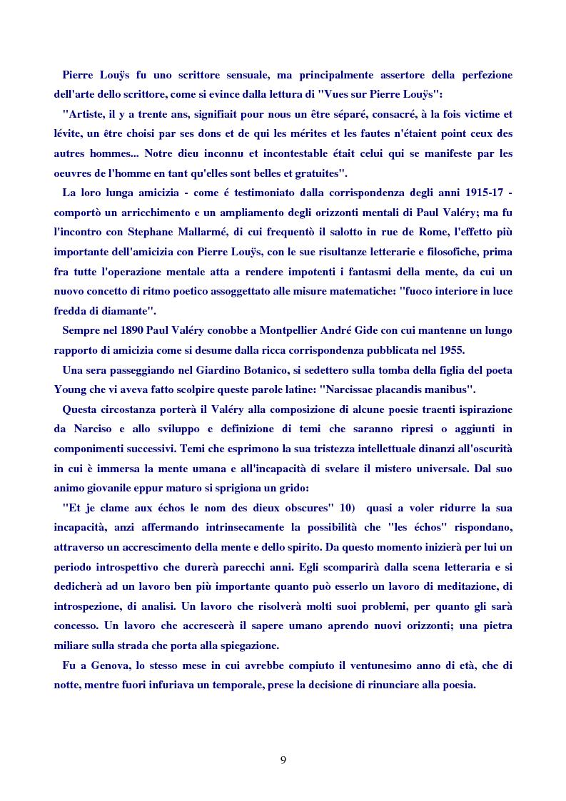 Anteprima della tesi: Paul Valéry, Pagina 8