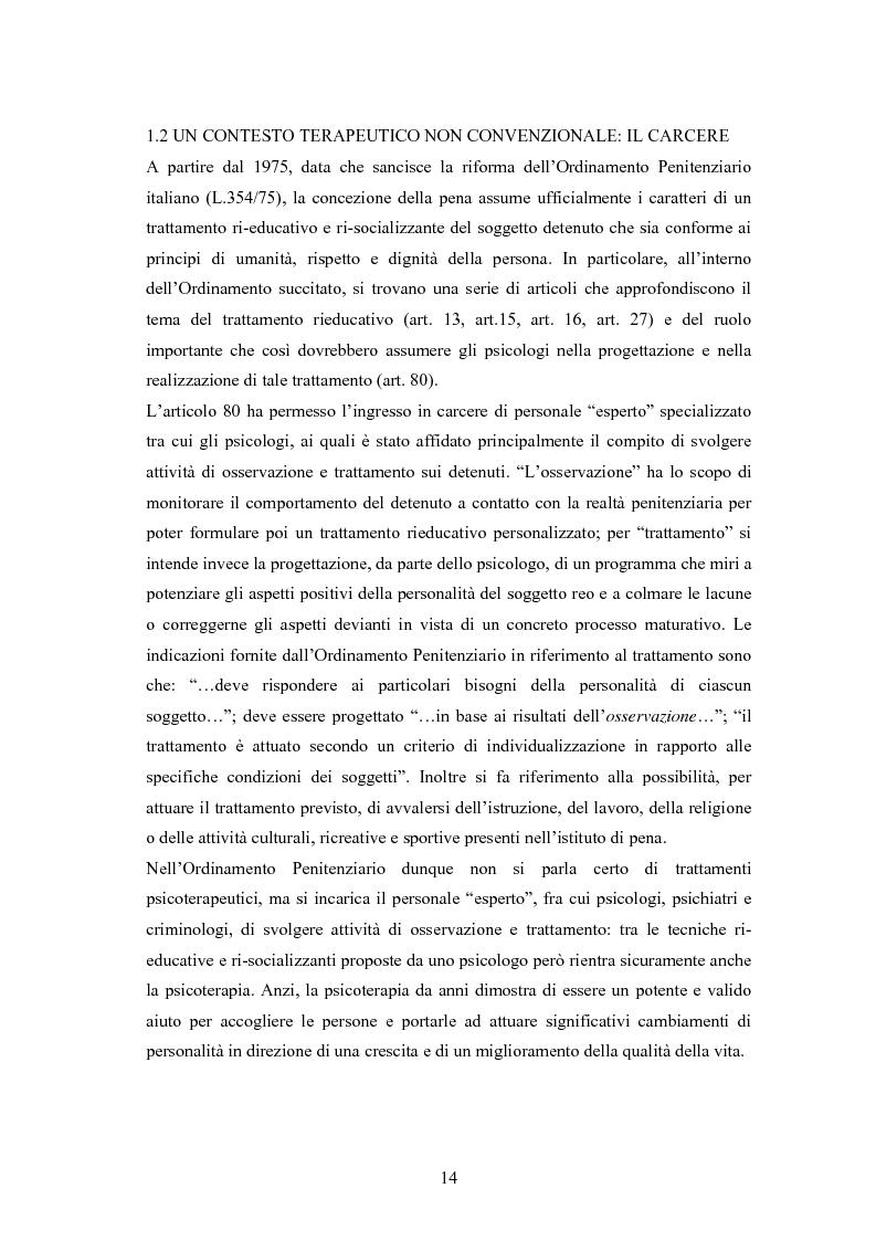 Anteprima della tesi: L'arte terapia in carcere: valenze terapeutiche e risocializzanti, Pagina 10