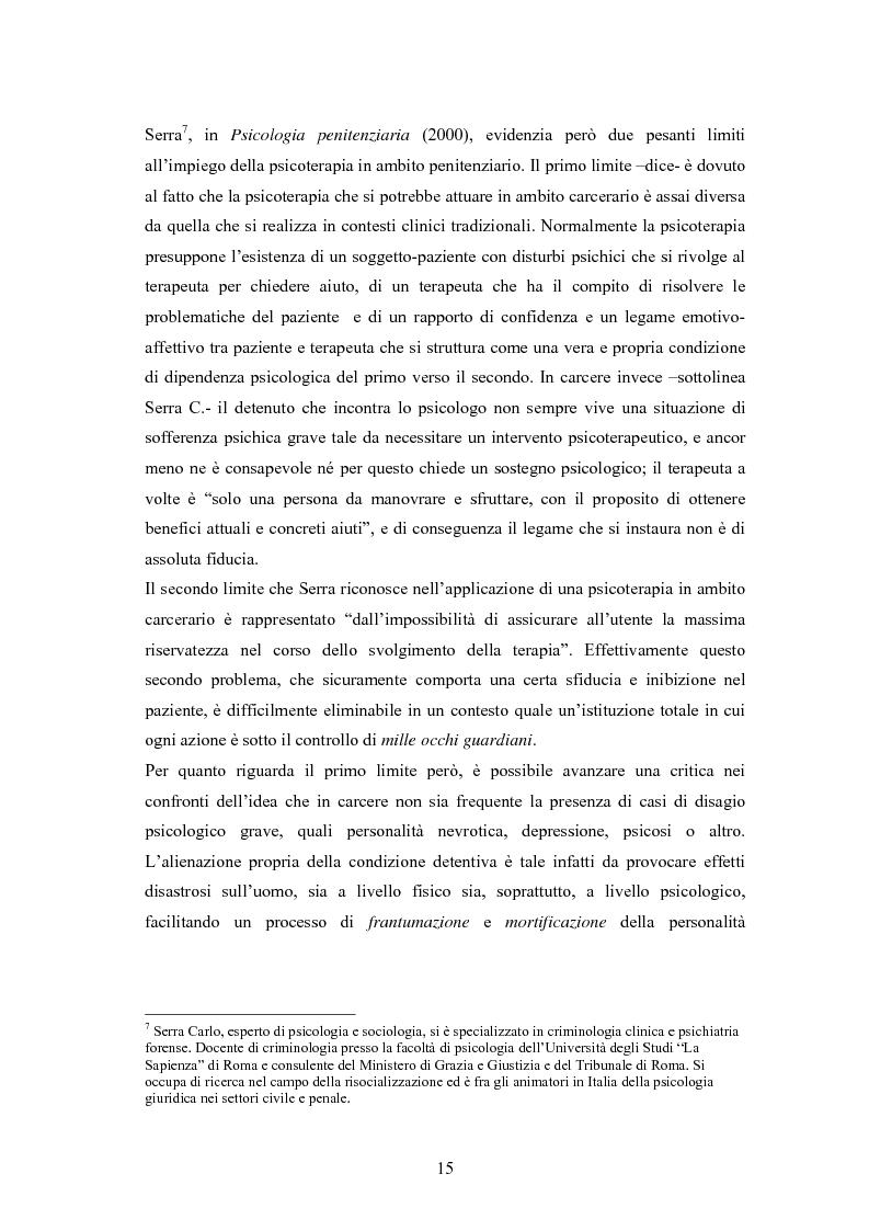 Anteprima della tesi: L'arte terapia in carcere: valenze terapeutiche e risocializzanti, Pagina 11