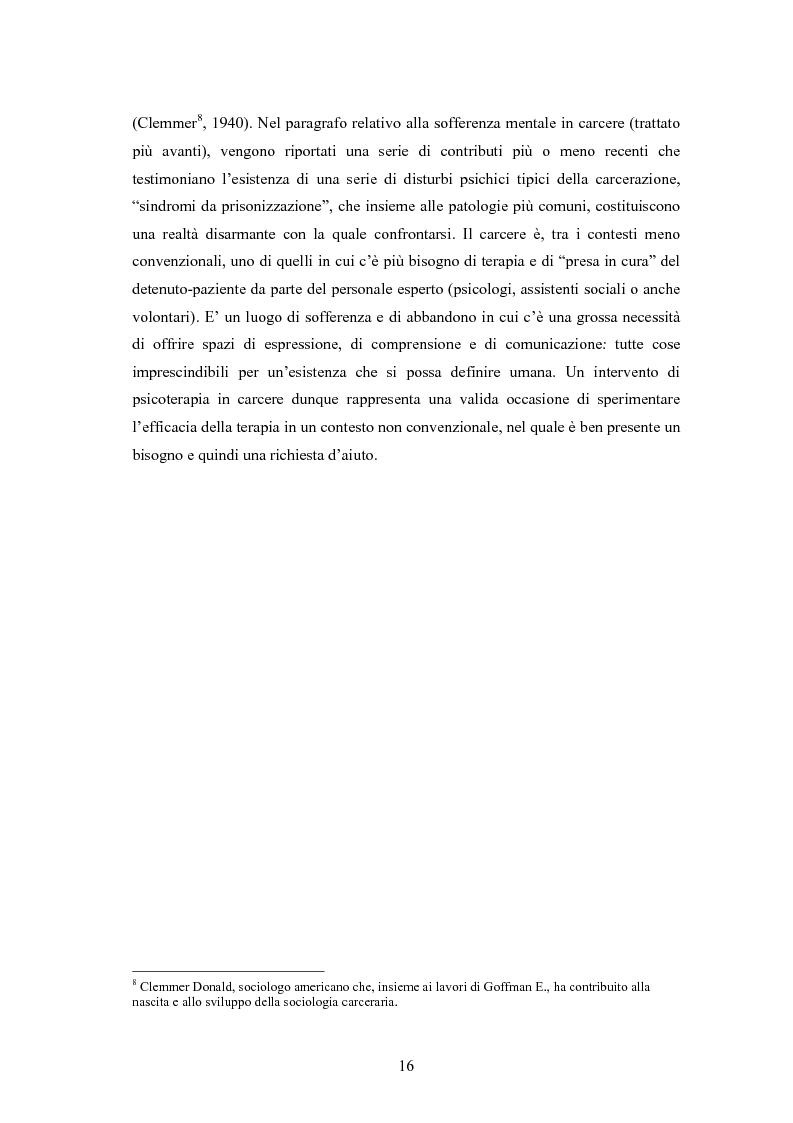 Anteprima della tesi: L'arte terapia in carcere: valenze terapeutiche e risocializzanti, Pagina 12