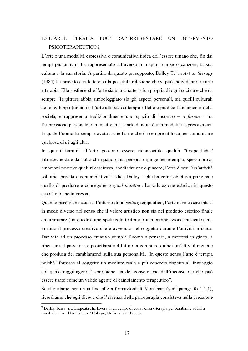 Anteprima della tesi: L'arte terapia in carcere: valenze terapeutiche e risocializzanti, Pagina 13