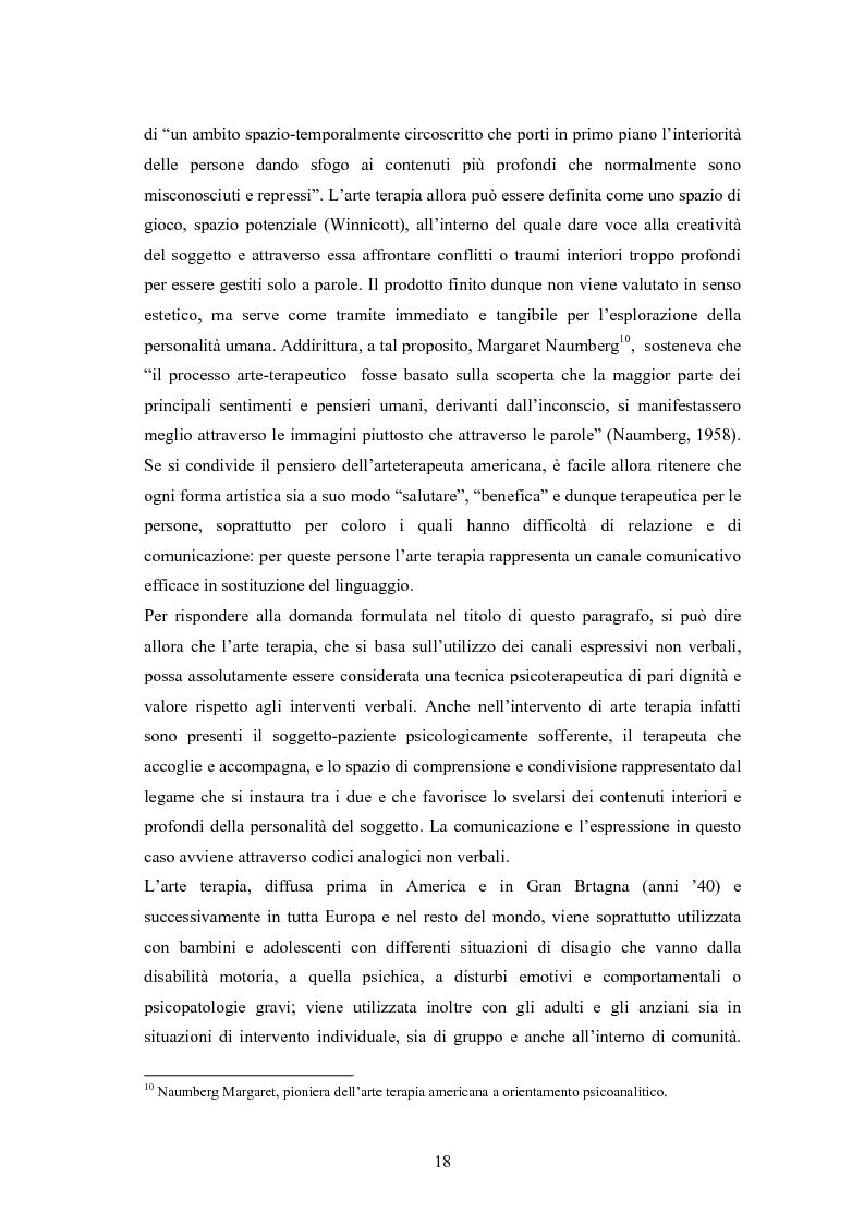 Anteprima della tesi: L'arte terapia in carcere: valenze terapeutiche e risocializzanti, Pagina 14