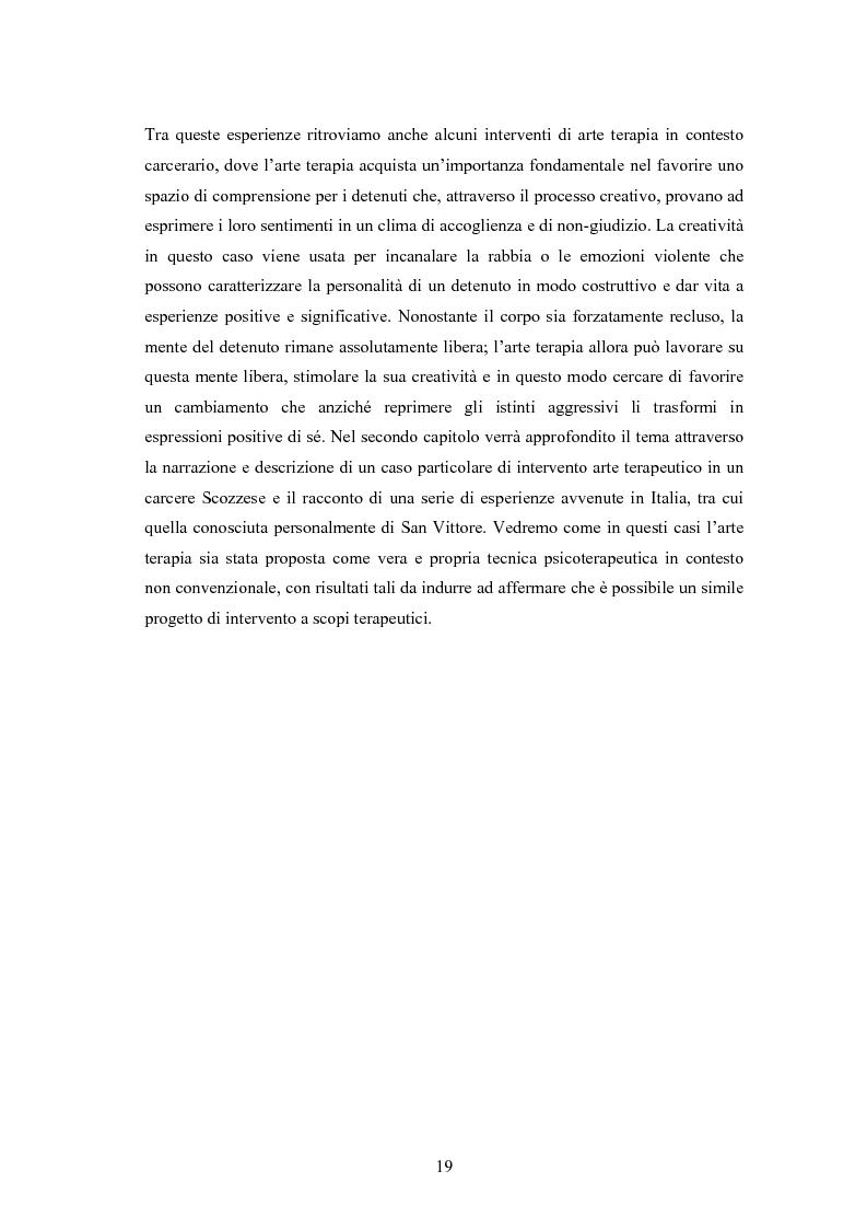 Anteprima della tesi: L'arte terapia in carcere: valenze terapeutiche e risocializzanti, Pagina 15