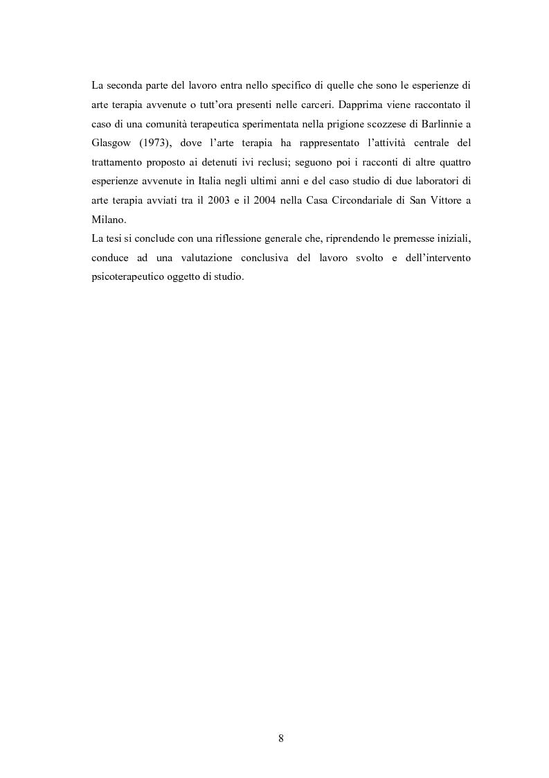 Anteprima della tesi: L'arte terapia in carcere: valenze terapeutiche e risocializzanti, Pagina 4