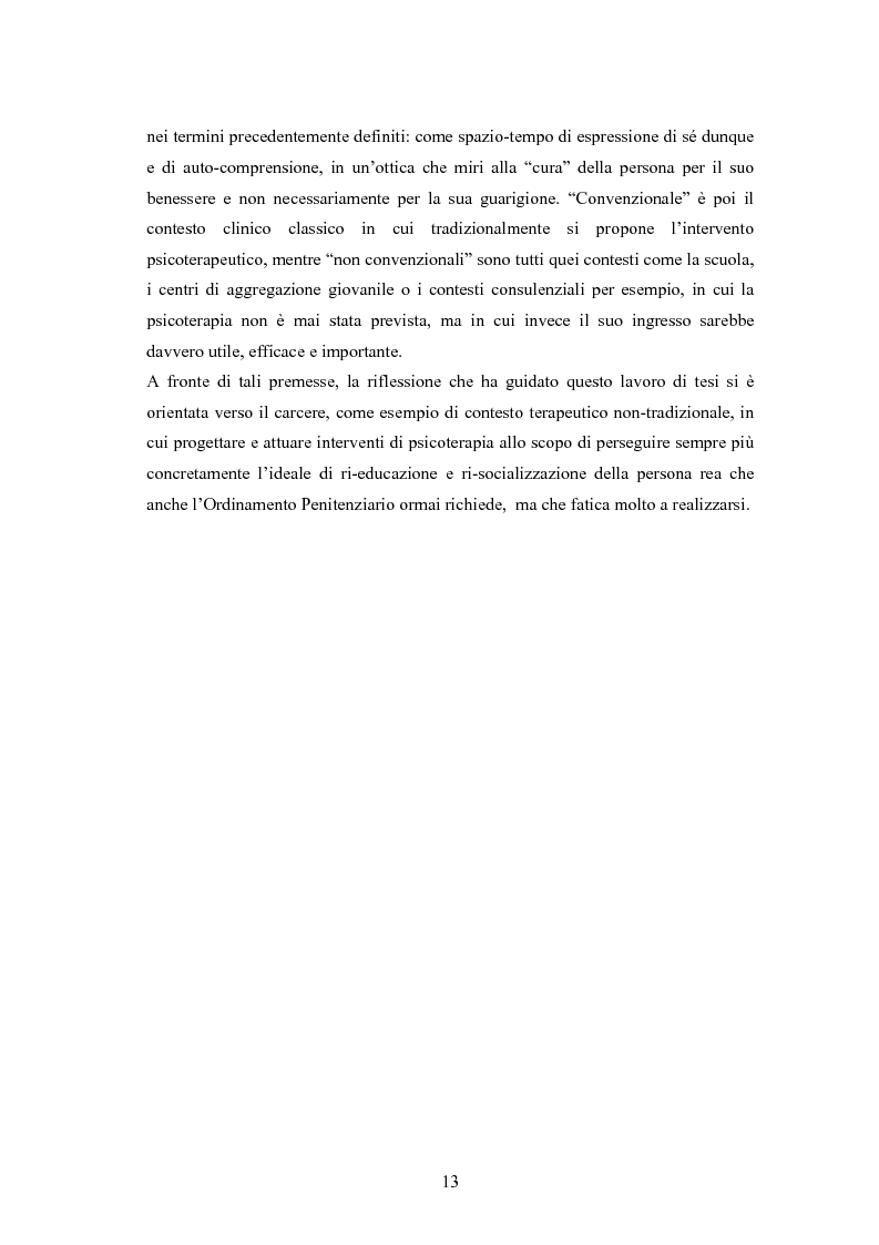 Anteprima della tesi: L'arte terapia in carcere: valenze terapeutiche e risocializzanti, Pagina 9