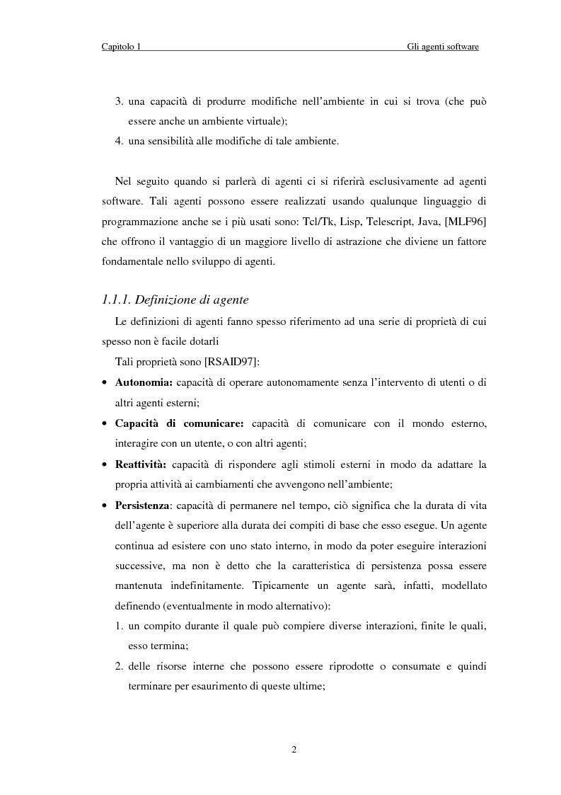 Anteprima della tesi: Il sistema EDGES: un sistema distribuito di agenti per la ricerca ed il filtraggio di informazioni in Internet, Pagina 6