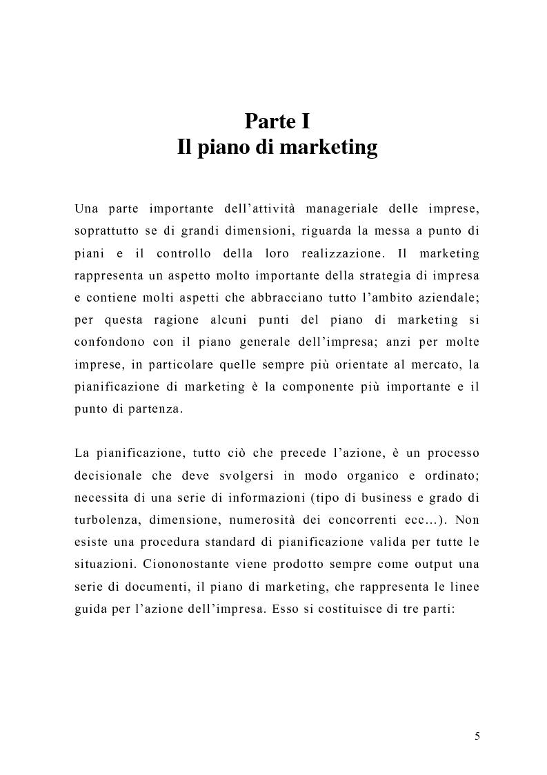 Anteprima della tesi: Il piano di Marketing: sviluppo e attuazione - Il caso Mungo, Pagina 2