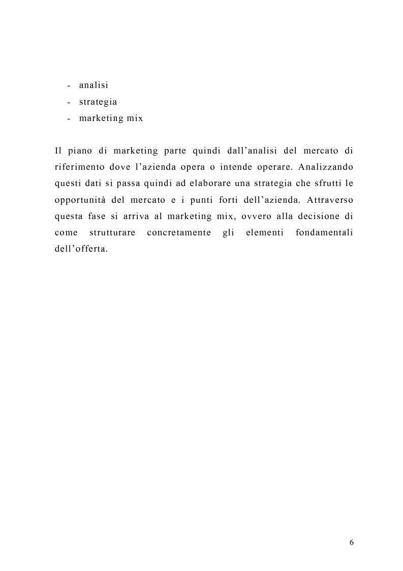 Anteprima della tesi: Il piano di Marketing: sviluppo e attuazione - Il caso Mungo, Pagina 3