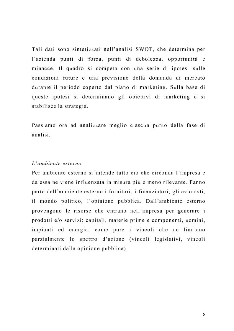 Anteprima della tesi: Il piano di Marketing: sviluppo e attuazione - Il caso Mungo, Pagina 5