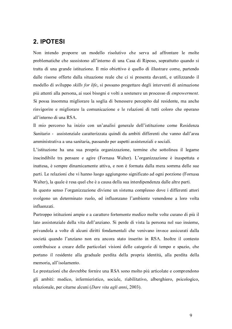 Anteprima della tesi: Viandante sul mare di nebbia: life skills per la promozione del benessere in RSA, Pagina 6