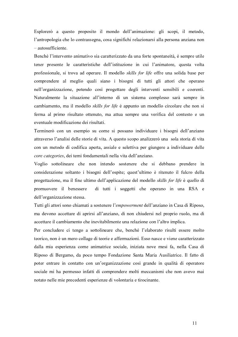 Anteprima della tesi: Viandante sul mare di nebbia: life skills per la promozione del benessere in RSA, Pagina 8