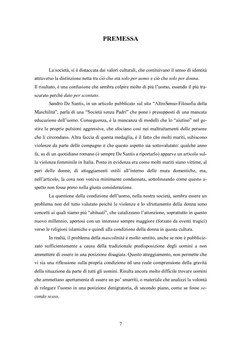 Anteprima della tesi: Gli uomini... il secondo sesso? Considerazioni mascoliniste sulla condizione dell'uomo, Pagina 1
