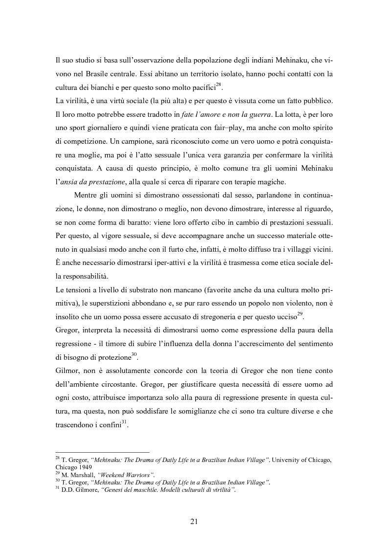 Anteprima della tesi: Gli uomini... il secondo sesso? Considerazioni mascoliniste sulla condizione dell'uomo, Pagina 15