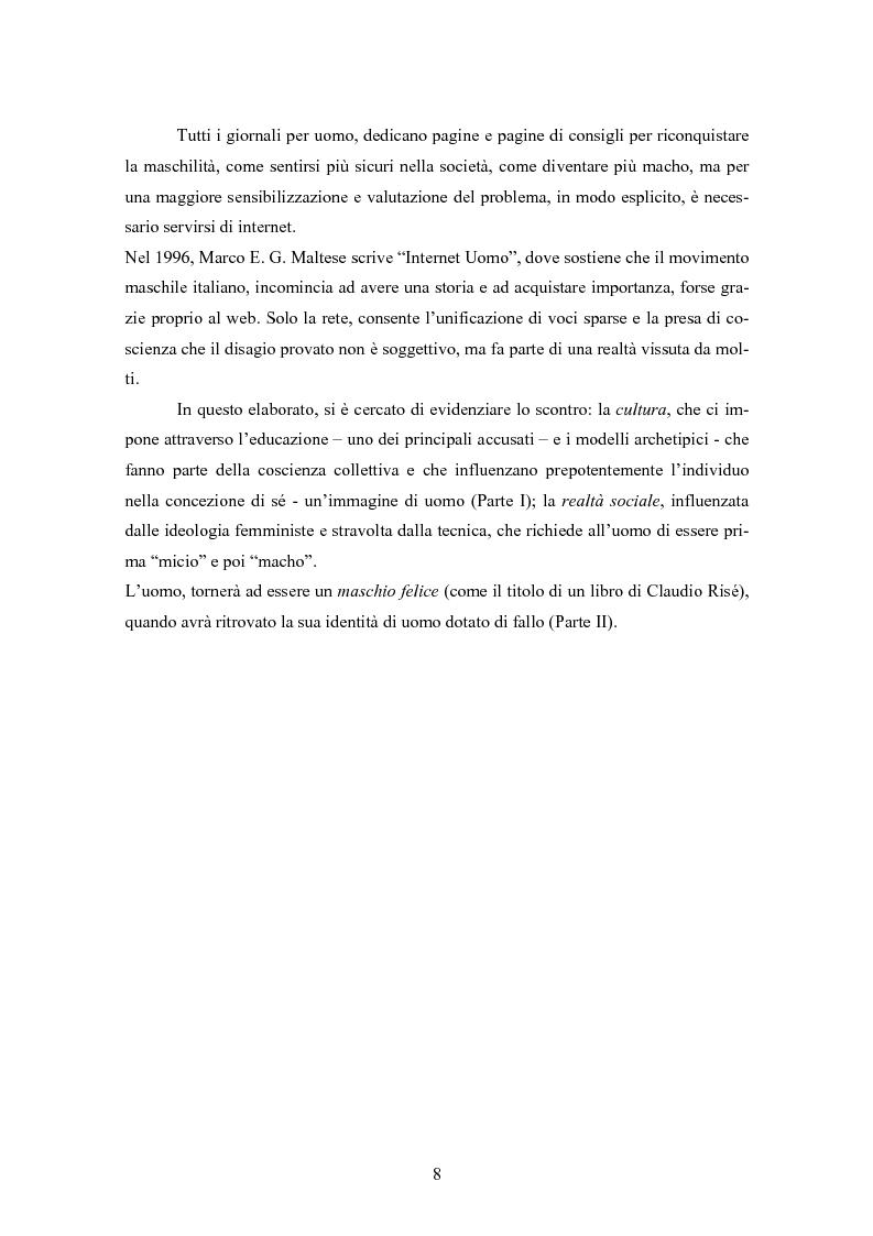 Anteprima della tesi: Gli uomini... il secondo sesso? Considerazioni mascoliniste sulla condizione dell'uomo, Pagina 2