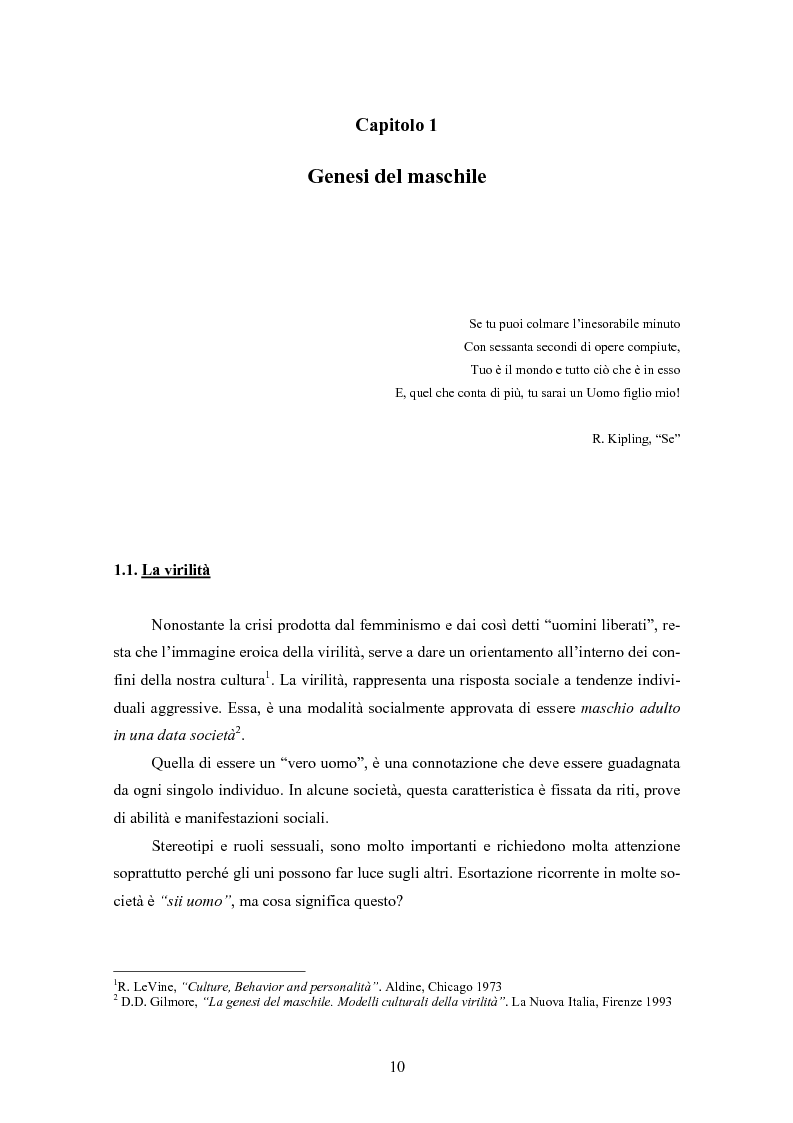 Anteprima della tesi: Gli uomini... il secondo sesso? Considerazioni mascoliniste sulla condizione dell'uomo, Pagina 4
