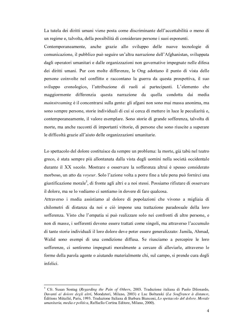 Anteprima della tesi: Enduring Freedom. Retorica umanitaria e spersonalizzazione nella nuova guerra in Afghanistan, Pagina 4