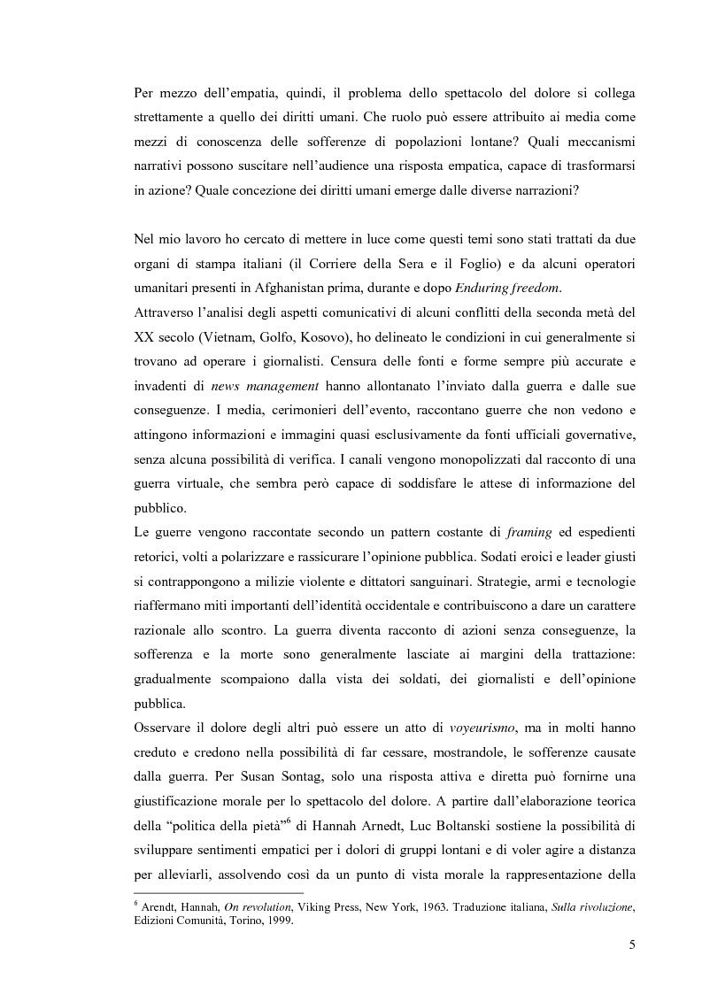 Anteprima della tesi: Enduring Freedom. Retorica umanitaria e spersonalizzazione nella nuova guerra in Afghanistan, Pagina 5