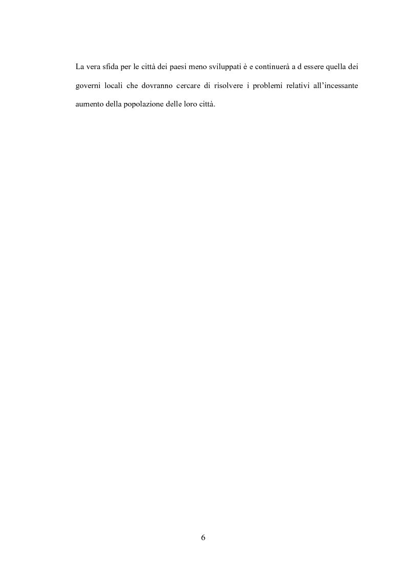 Anteprima della tesi: Il processo di urbanizzazione nei paesi meno sviluppati, Pagina 3