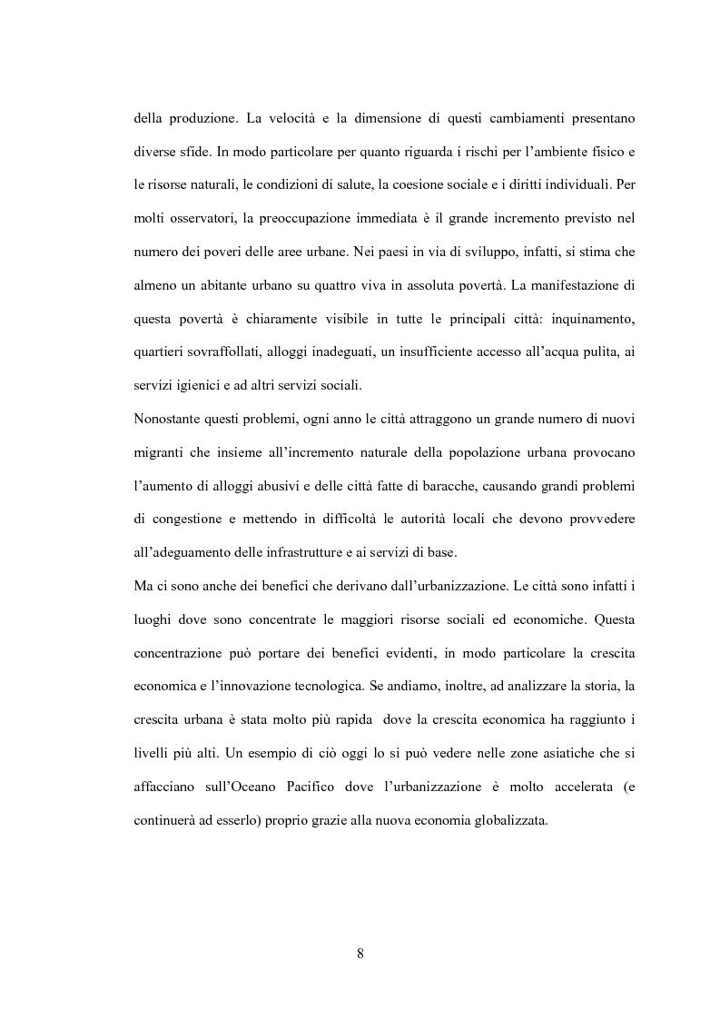 Anteprima della tesi: Il processo di urbanizzazione nei paesi meno sviluppati, Pagina 5