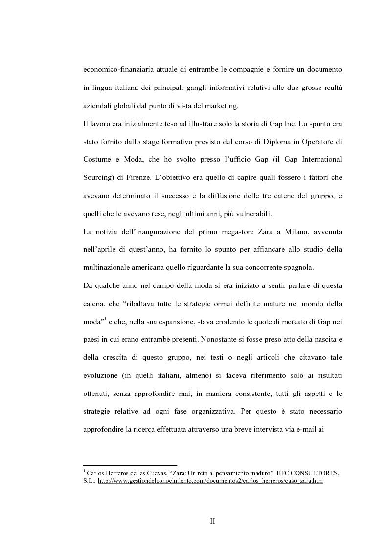 Anteprima della tesi: Da fashion retailers a imprese globali del sistema moda. Analisi di due casi significativi: Gap Inc. e Inditex, Pagina 2