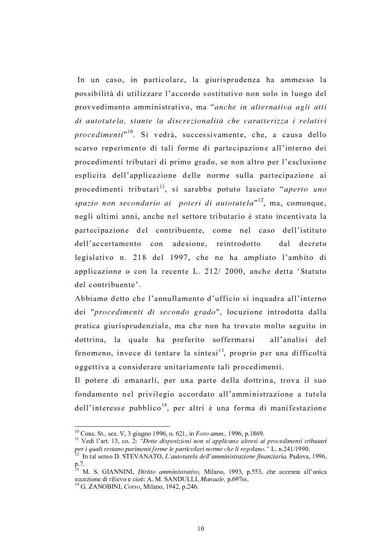 Anteprima della tesi: L'autotutela nel diritto tributario con particolare riguardo alla posizione soggettiva del contribuente, Pagina 5