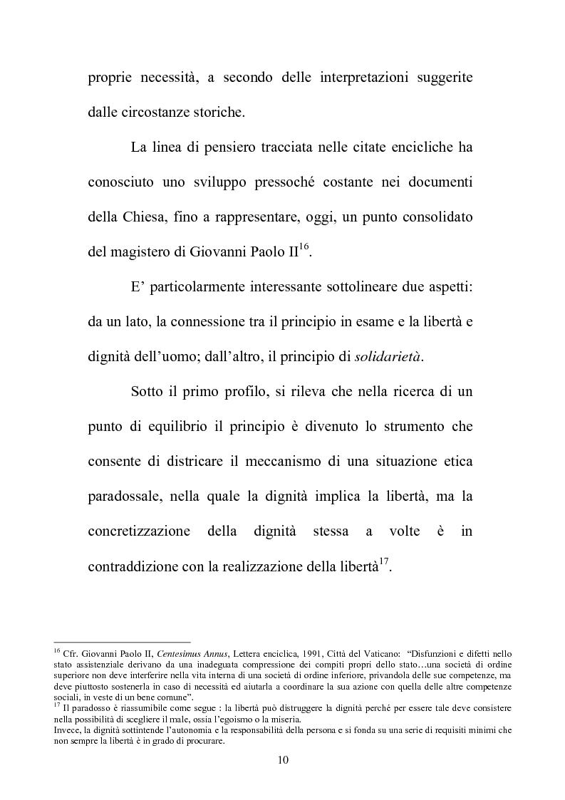 Anteprima della tesi: Il principio di sussidiarietà nel sistema delle autonomie locali, Pagina 10