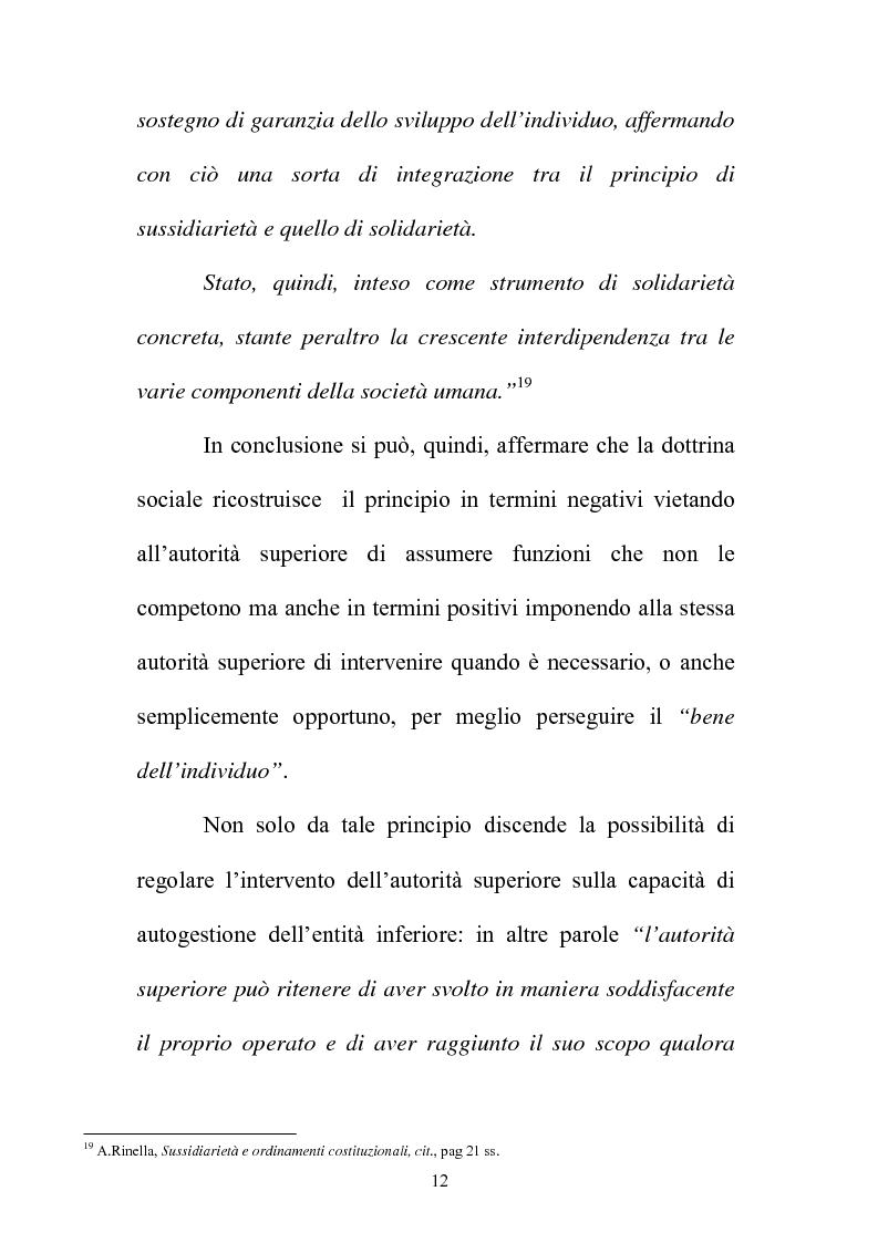 Anteprima della tesi: Il principio di sussidiarietà nel sistema delle autonomie locali, Pagina 12