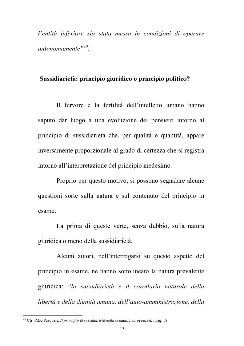 Anteprima della tesi: Il principio di sussidiarietà nel sistema delle autonomie locali, Pagina 13