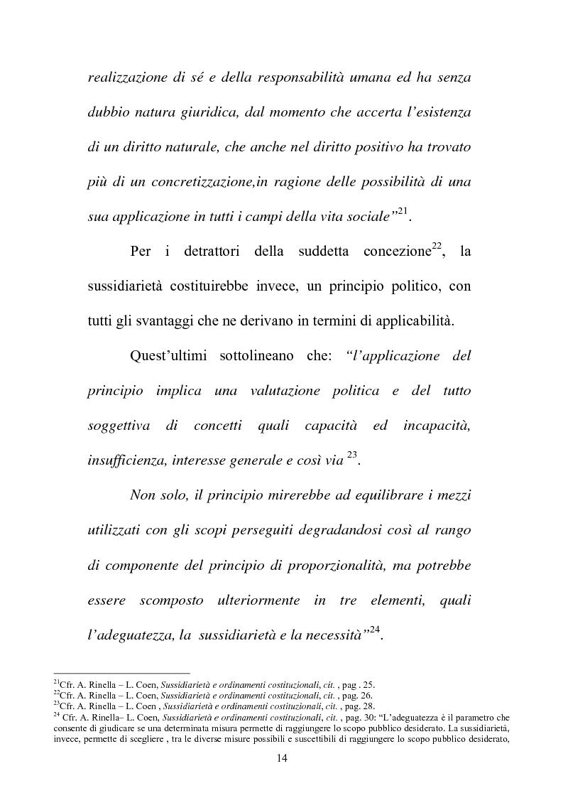 Anteprima della tesi: Il principio di sussidiarietà nel sistema delle autonomie locali, Pagina 14