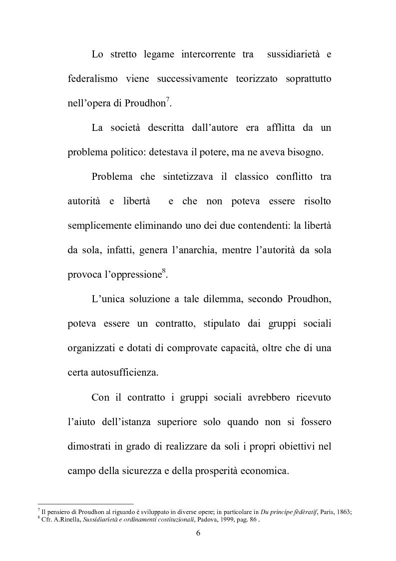 Anteprima della tesi: Il principio di sussidiarietà nel sistema delle autonomie locali, Pagina 6