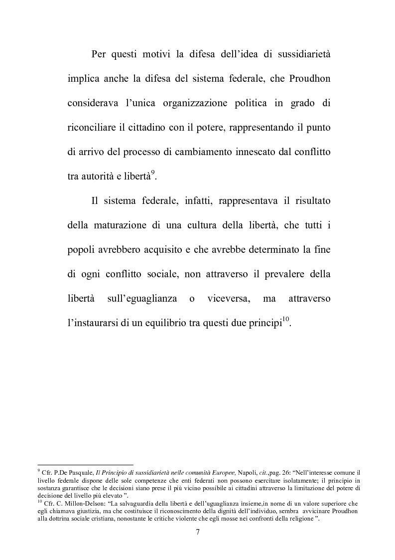 Anteprima della tesi: Il principio di sussidiarietà nel sistema delle autonomie locali, Pagina 7