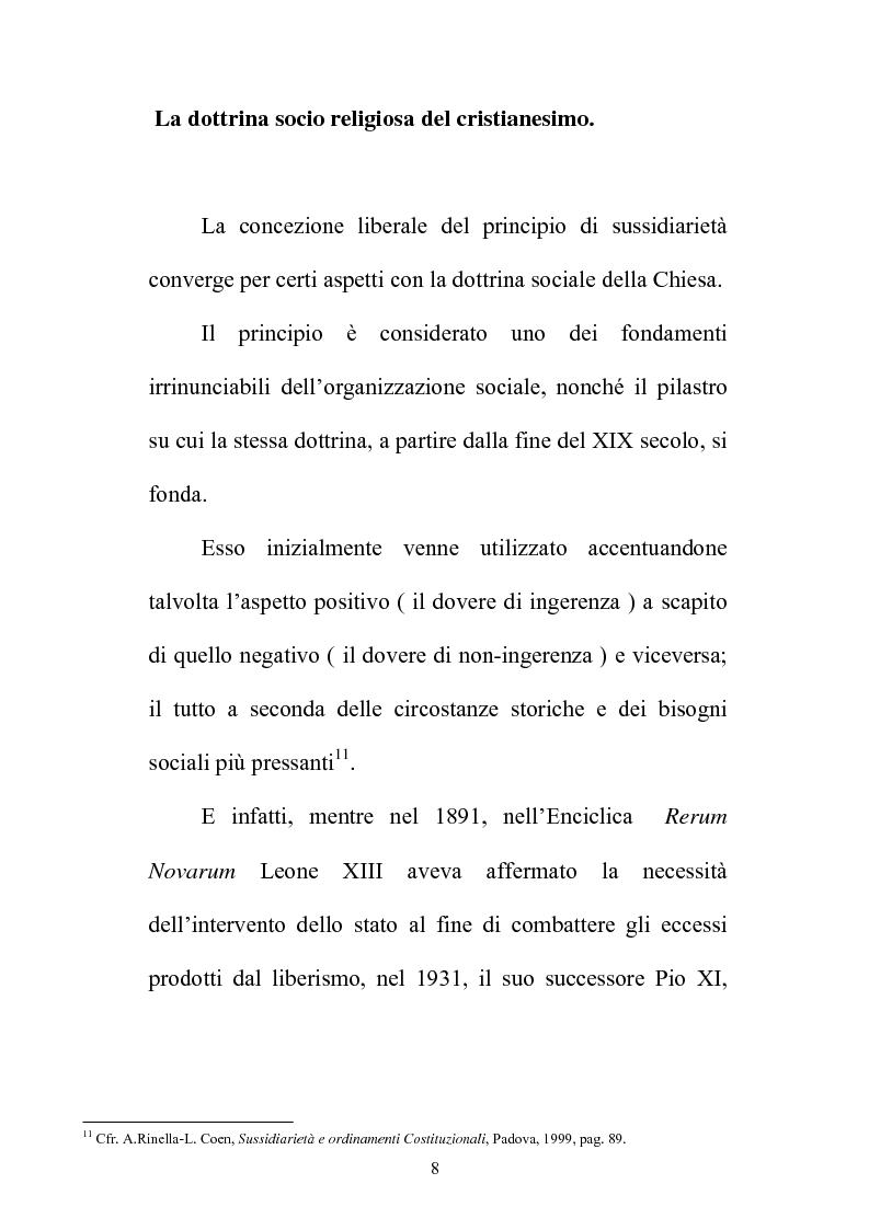 Anteprima della tesi: Il principio di sussidiarietà nel sistema delle autonomie locali, Pagina 8