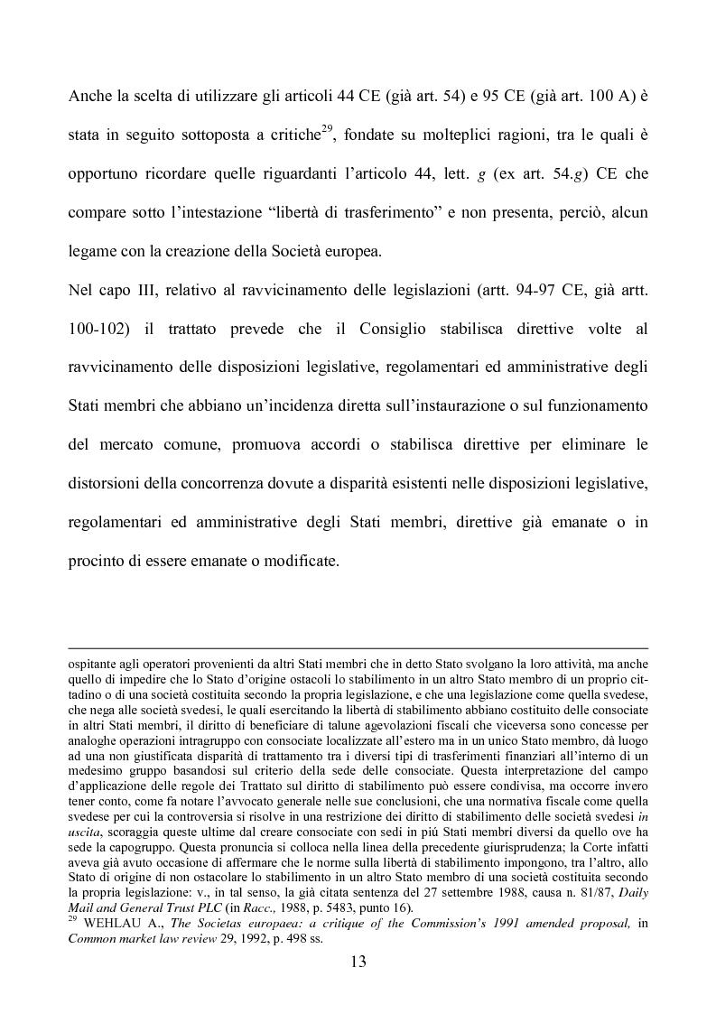 Anteprima della tesi: La società europea, Pagina 13