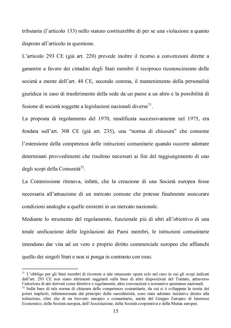 Anteprima della tesi: La società europea, Pagina 15