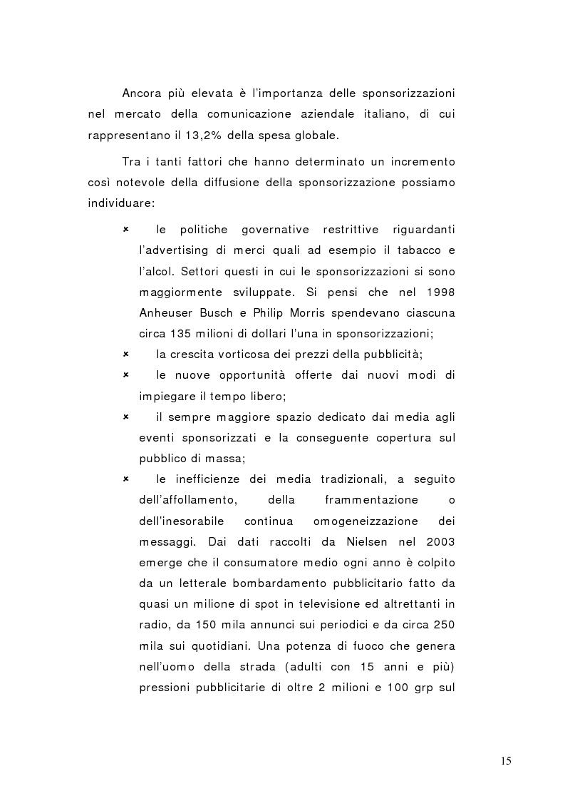 Anteprima della tesi: La sponsorizzazione di eventi musicali: un efficace strumento di comunicazione commerciale, Pagina 10