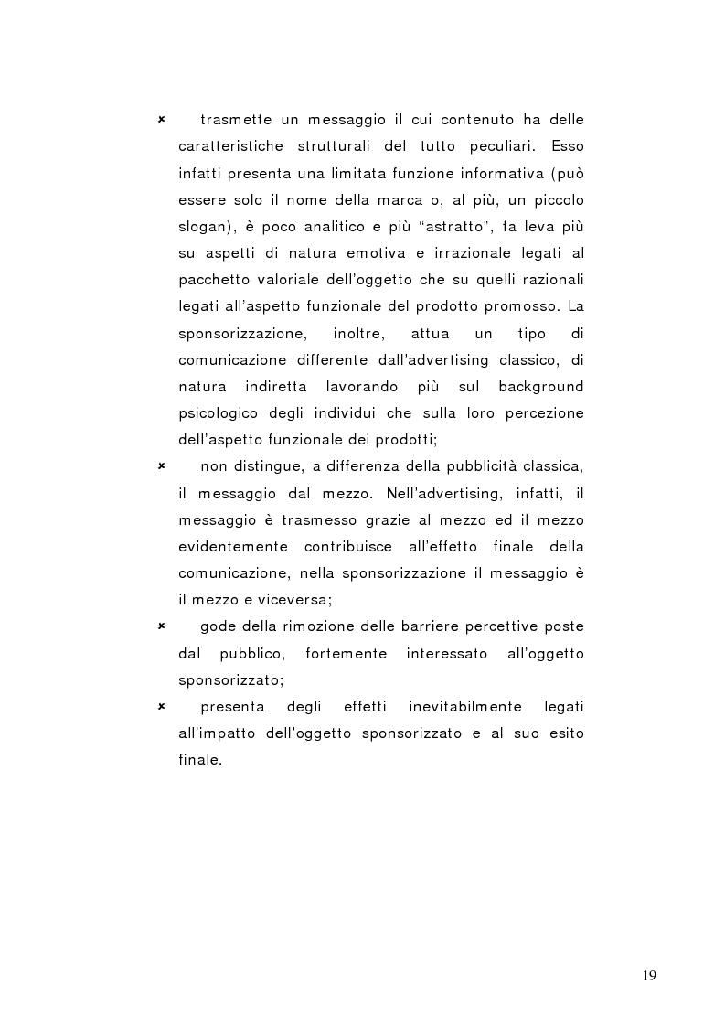 Anteprima della tesi: La sponsorizzazione di eventi musicali: un efficace strumento di comunicazione commerciale, Pagina 14