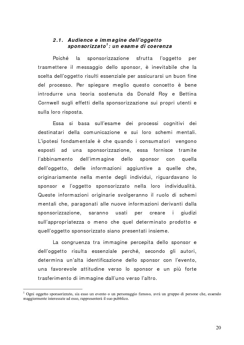 Anteprima della tesi: La sponsorizzazione di eventi musicali: un efficace strumento di comunicazione commerciale, Pagina 15