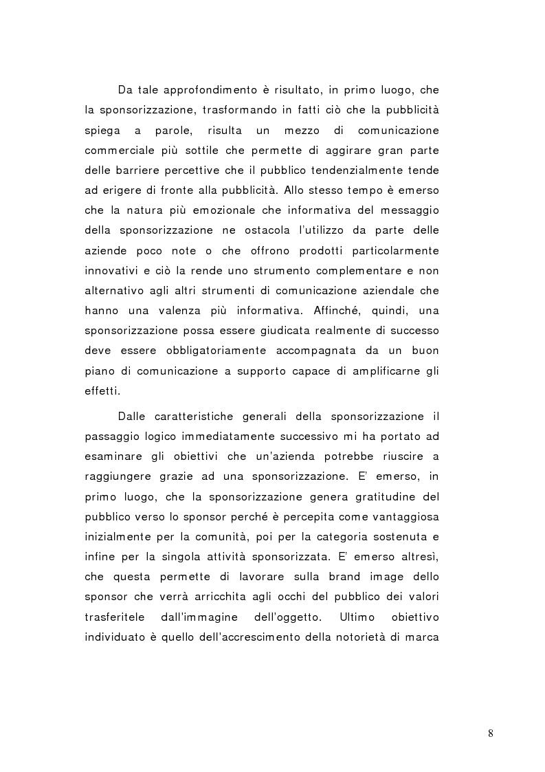 Anteprima della tesi: La sponsorizzazione di eventi musicali: un efficace strumento di comunicazione commerciale, Pagina 3