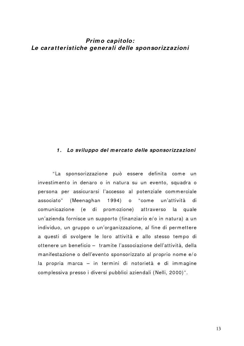 Anteprima della tesi: La sponsorizzazione di eventi musicali: un efficace strumento di comunicazione commerciale, Pagina 8