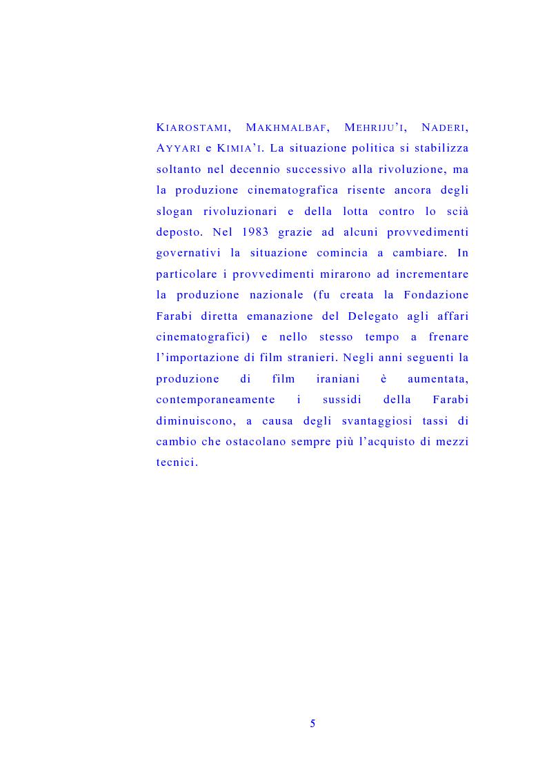 Anteprima della tesi: Il cinema di Abbas Kiarostami, Pagina 4