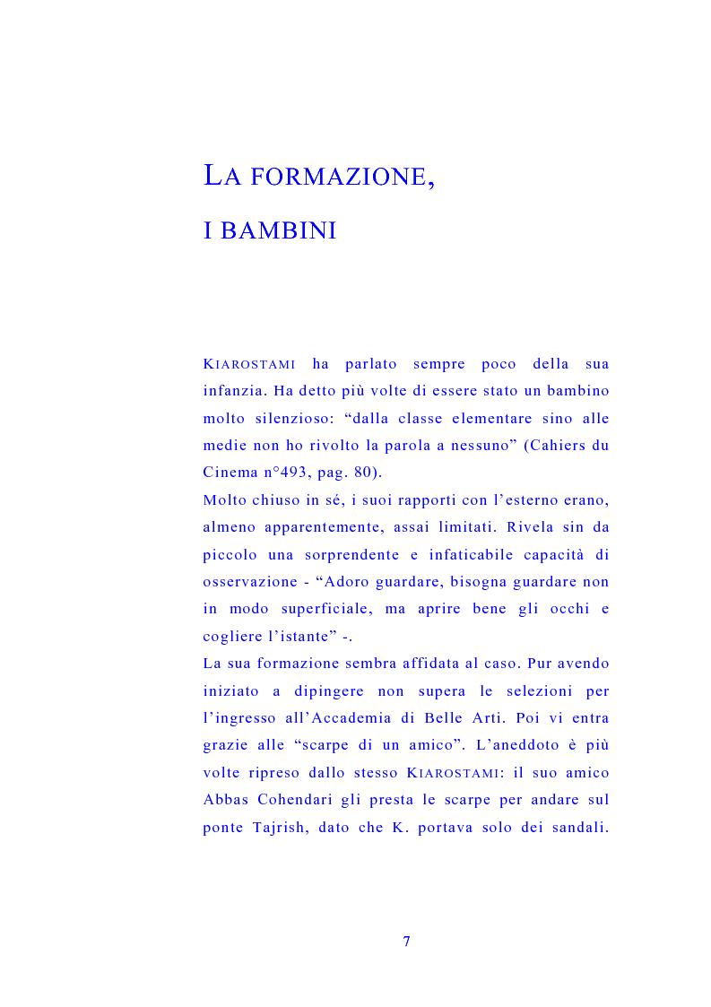 Anteprima della tesi: Il cinema di Abbas Kiarostami, Pagina 6