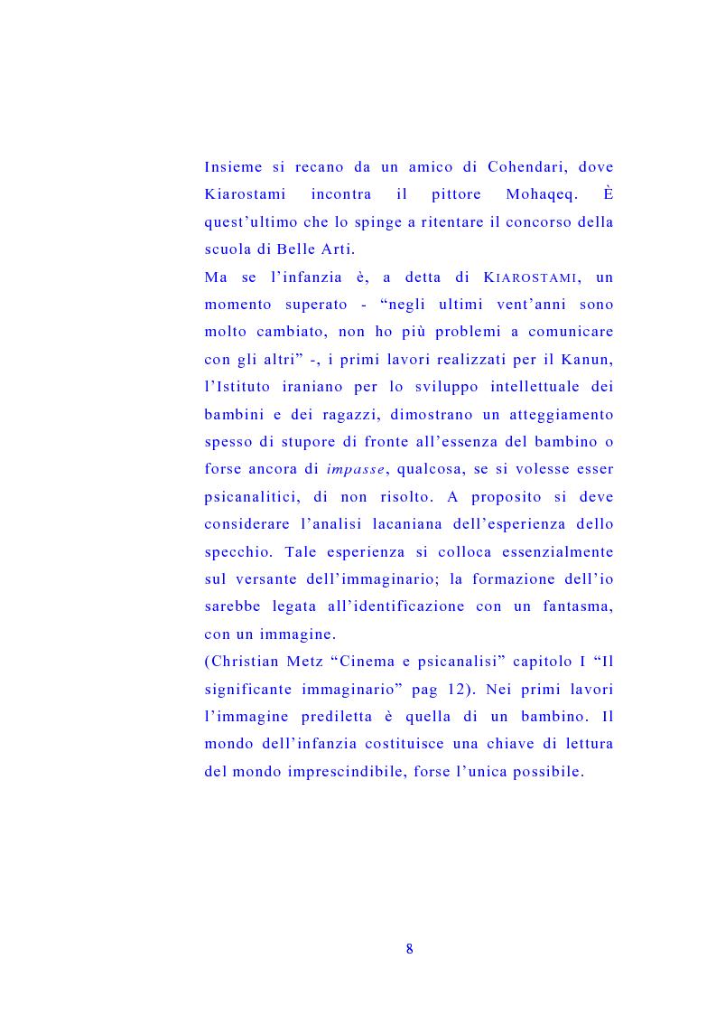 Anteprima della tesi: Il cinema di Abbas Kiarostami, Pagina 7
