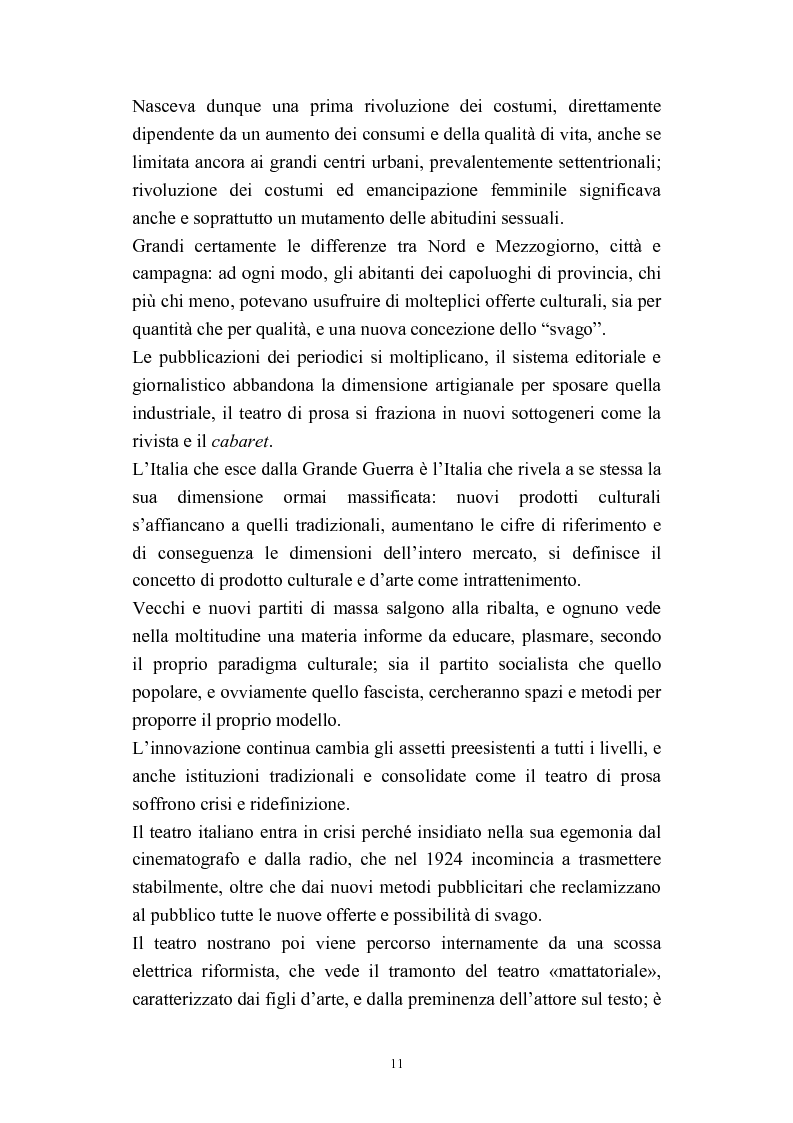 Anteprima della tesi: A onor del vero. Pitigrilli: scrittore anti sublime. Viaggio nella vita e nelle opere di un autore controverso, Pagina 11