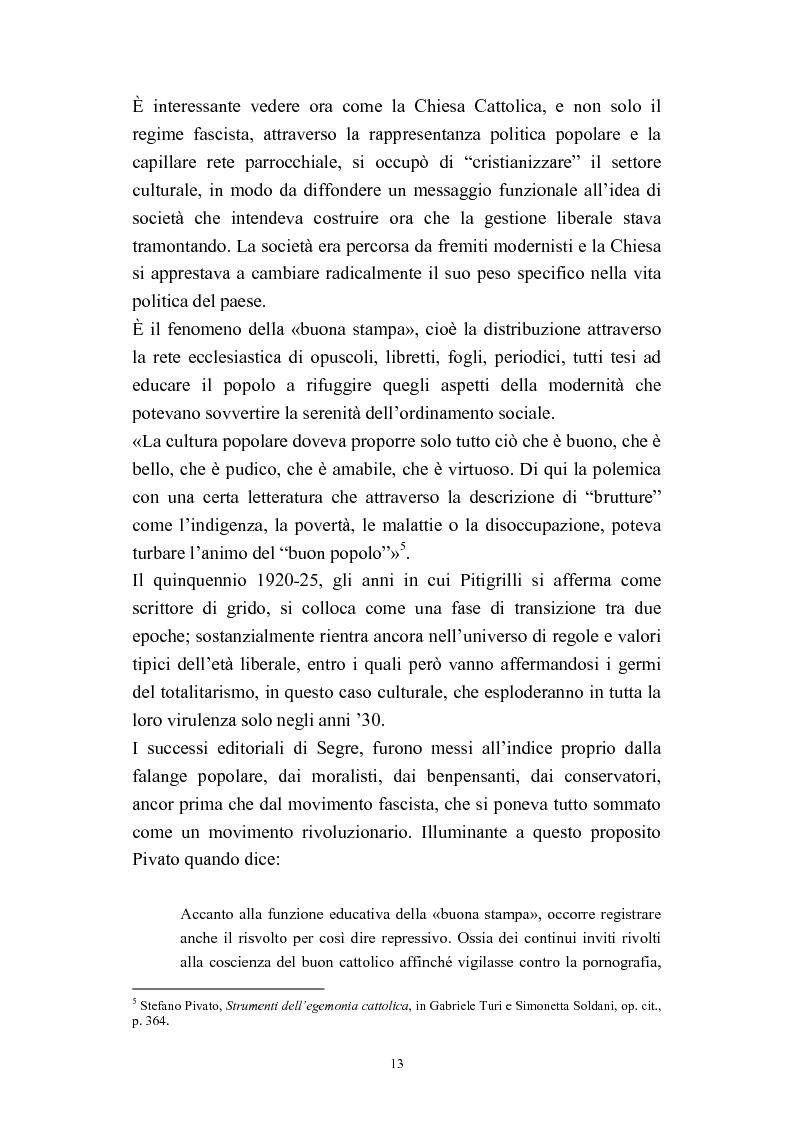 Anteprima della tesi: A onor del vero. Pitigrilli: scrittore anti sublime. Viaggio nella vita e nelle opere di un autore controverso, Pagina 13