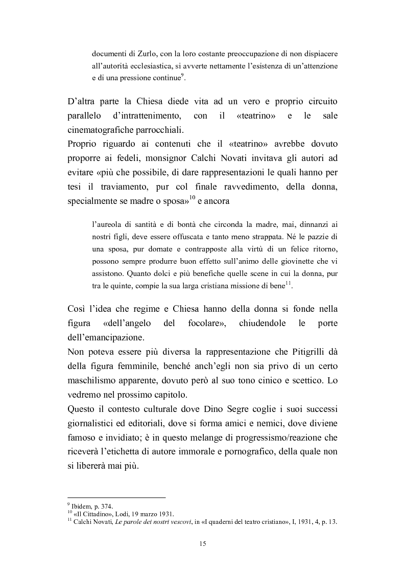Anteprima della tesi: A onor del vero. Pitigrilli: scrittore anti sublime. Viaggio nella vita e nelle opere di un autore controverso, Pagina 15