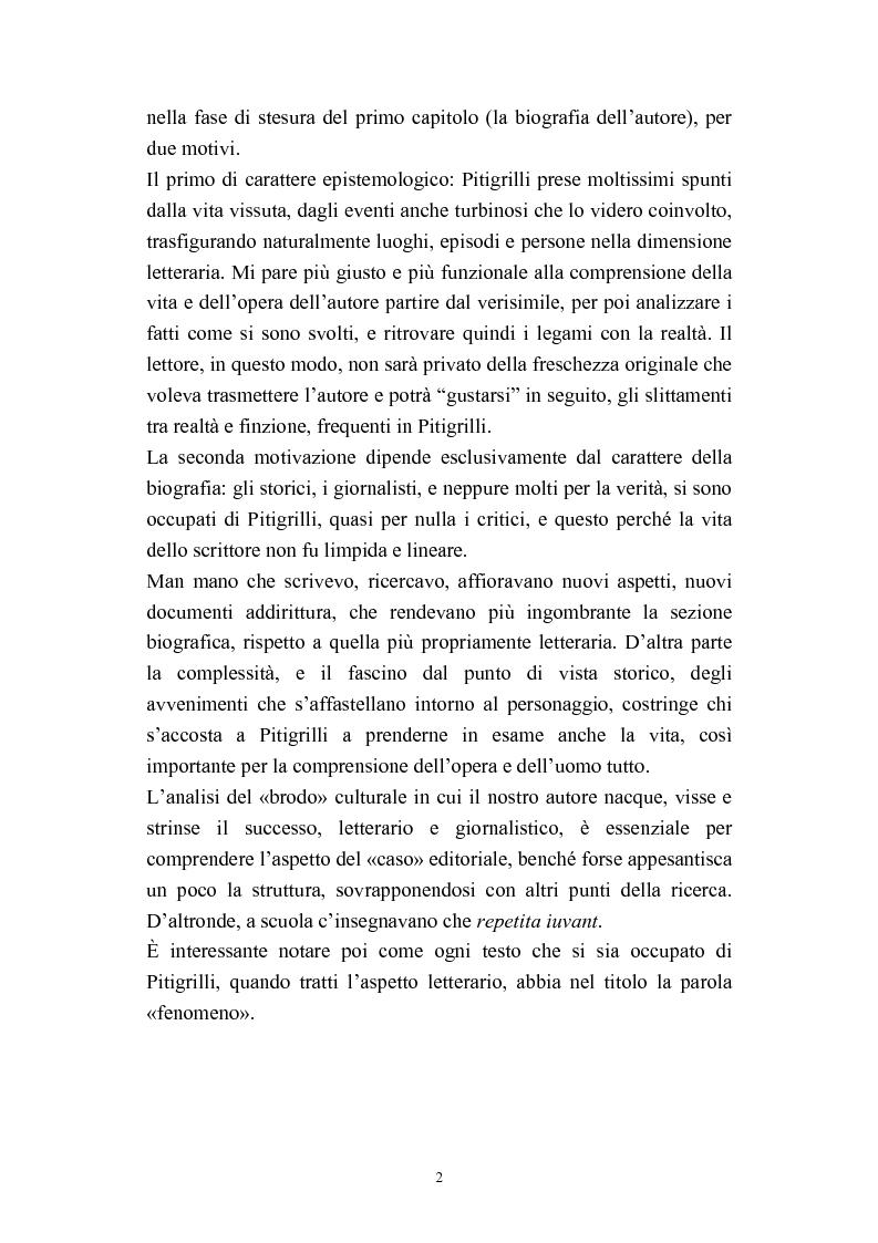 Anteprima della tesi: A onor del vero. Pitigrilli: scrittore anti sublime. Viaggio nella vita e nelle opere di un autore controverso, Pagina 2
