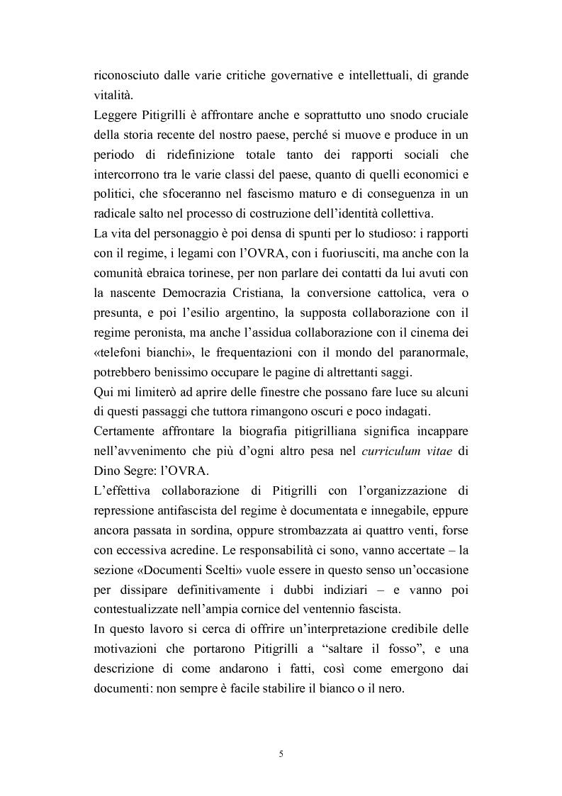 Anteprima della tesi: A onor del vero. Pitigrilli: scrittore anti sublime. Viaggio nella vita e nelle opere di un autore controverso, Pagina 5