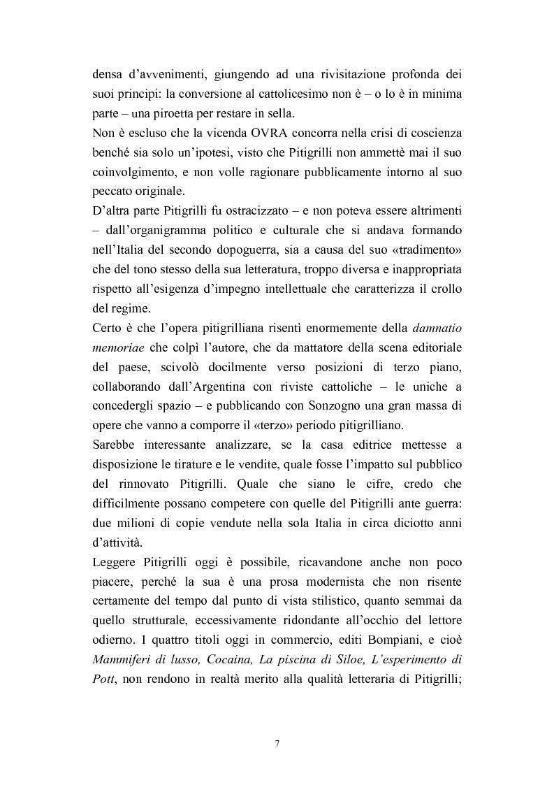 Anteprima della tesi: A onor del vero. Pitigrilli: scrittore anti sublime. Viaggio nella vita e nelle opere di un autore controverso, Pagina 7
