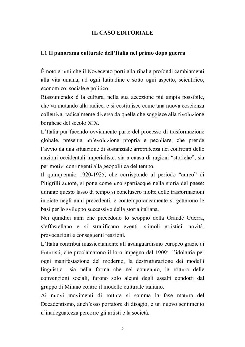 Anteprima della tesi: A onor del vero. Pitigrilli: scrittore anti sublime. Viaggio nella vita e nelle opere di un autore controverso, Pagina 9
