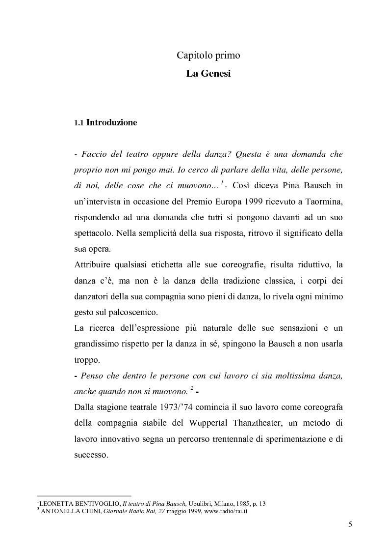 Anteprima della tesi: Café Muller di Pina Bausch. Analisi critica, Pagina 3